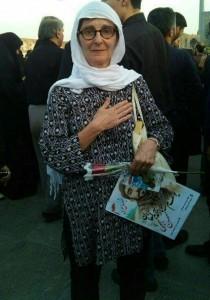 توریست در مراسم شهید حججی